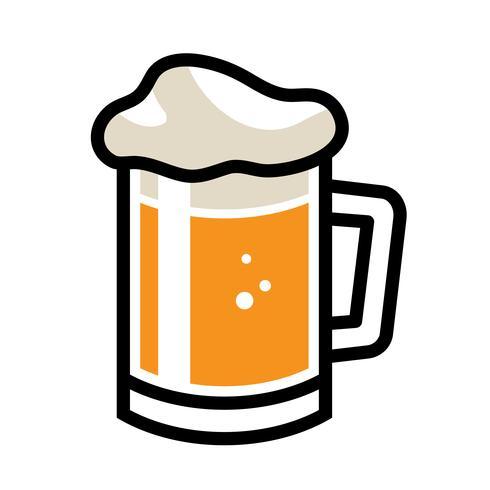 Icono de Vector de taza de cerveza