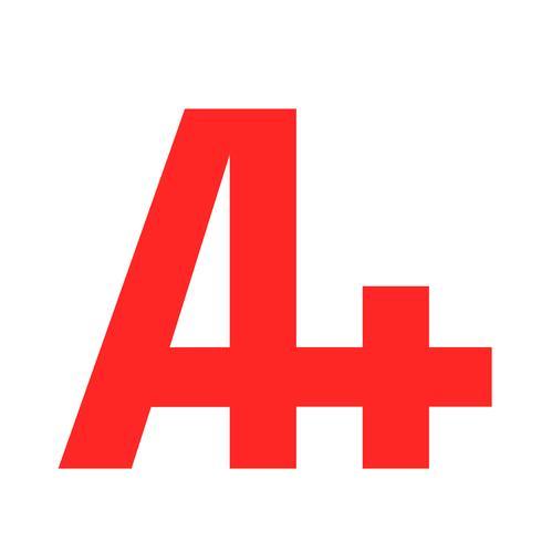 A+ grade text graphic vector