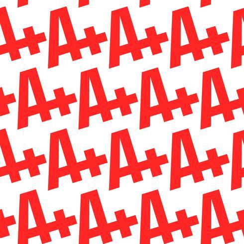 A + cijfer tekstafbeelding