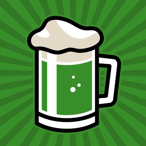 Grön irländsk öl rånar vektor ikon