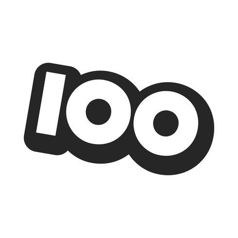 Nr. 100 / hundert coole modische Text-Grafik