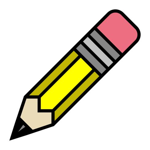 Lápiz amarillo vector