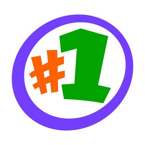 Numéro 1 Numéro Logo Logo Text