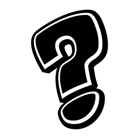 Question mark cartoon vector icon