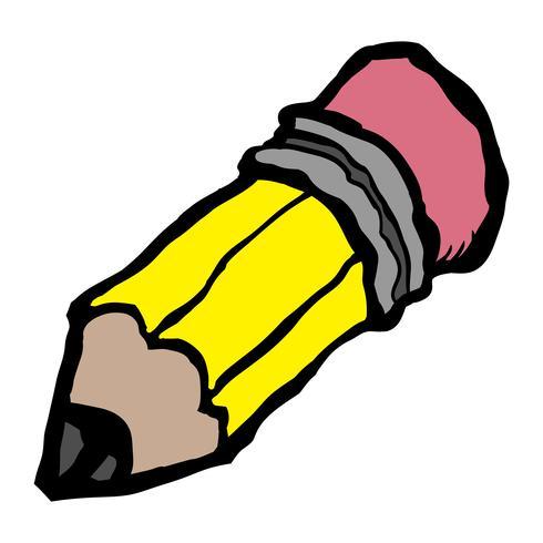 Vettore di matita gialla