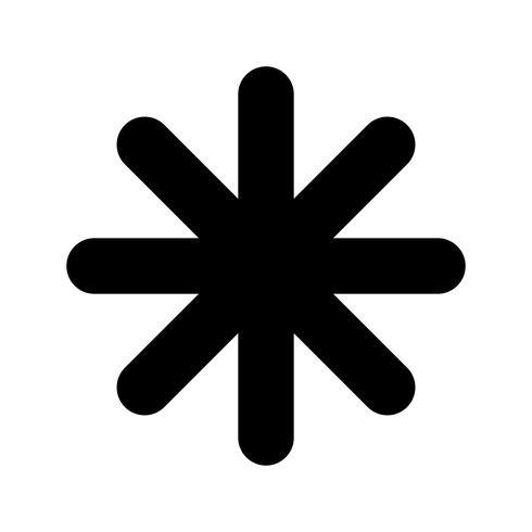 Asterisk vector