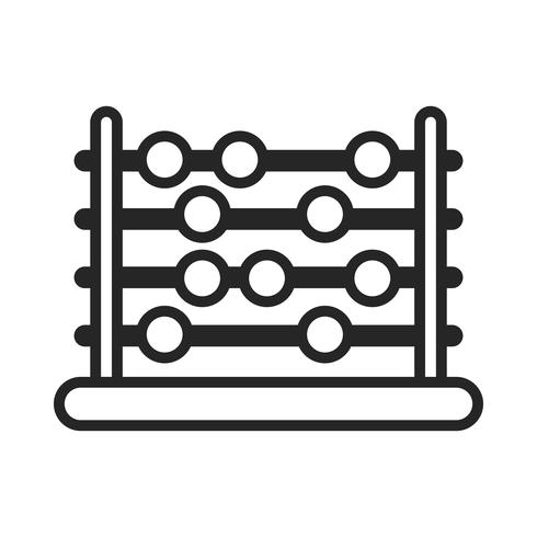 Abacus counting tool vector