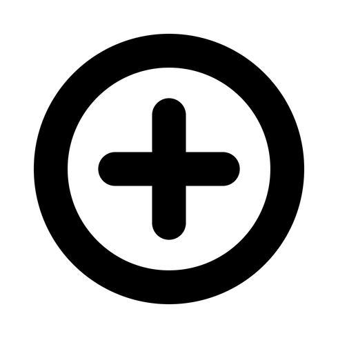 Plus signe vecteur icône