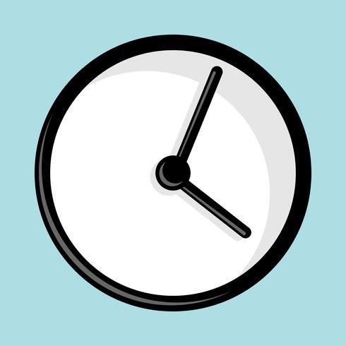 Klockvektorikonen vektor