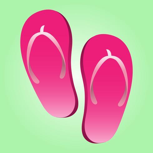 Flip Flop Schuh Vektor Icon