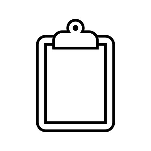 Portapapeles Vector icono