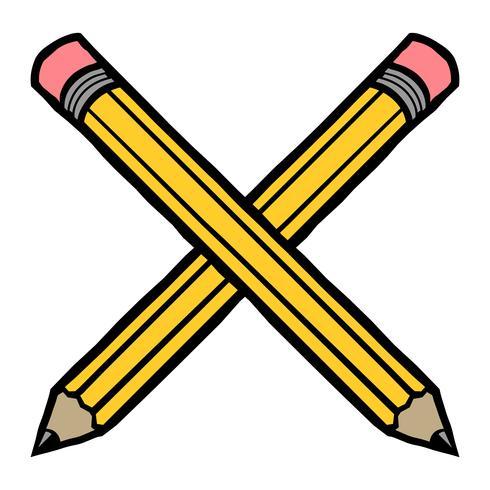 Gul penna vektor