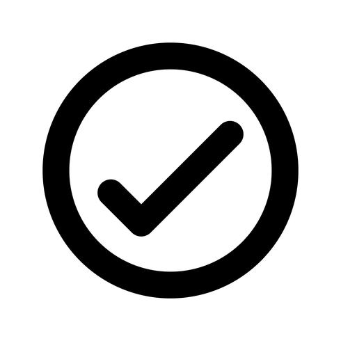Marca de verificación icono de vector