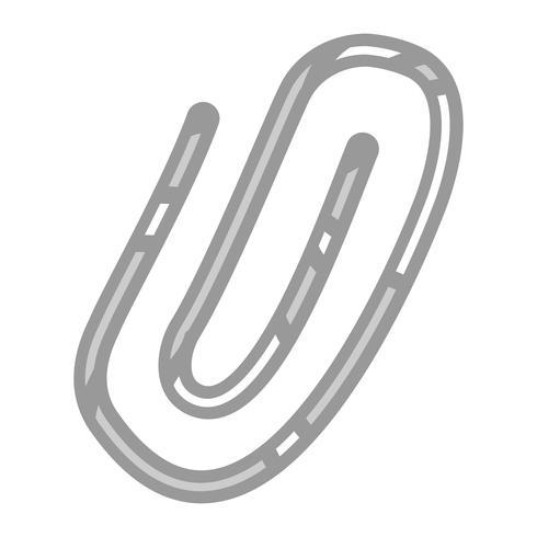 Ícone de vetor de clipes de papel
