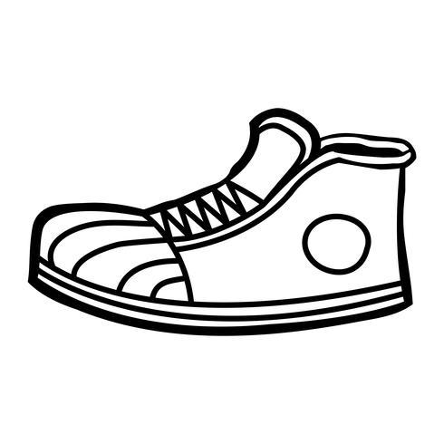 Icône de dessin animé de baskets vecteur