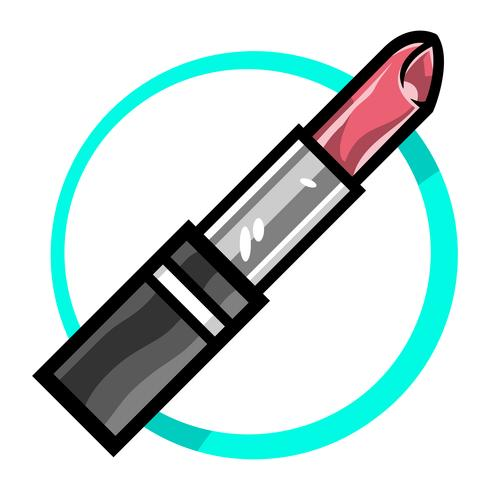 Icono de vector de lápiz labial