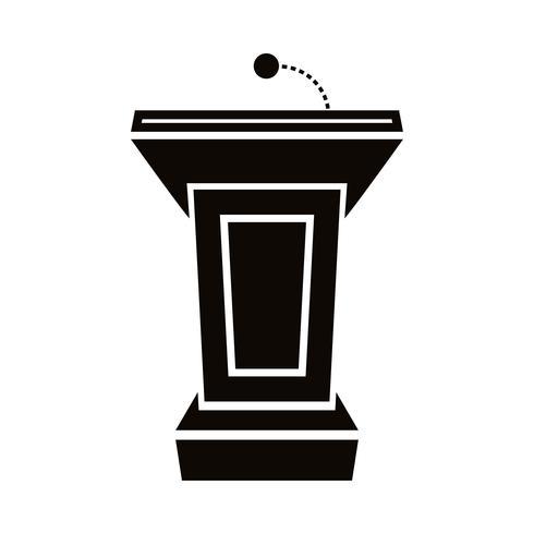 Presentatie podium voor lezingen of spreken in het openbaar - vectorafbeelding
