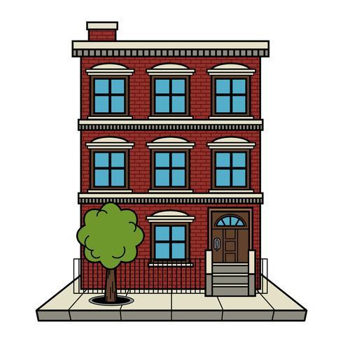Appartamento edificio vettoriale