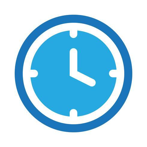 Ícone de vetor de relógio
