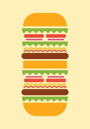 Zomer eten illustratie