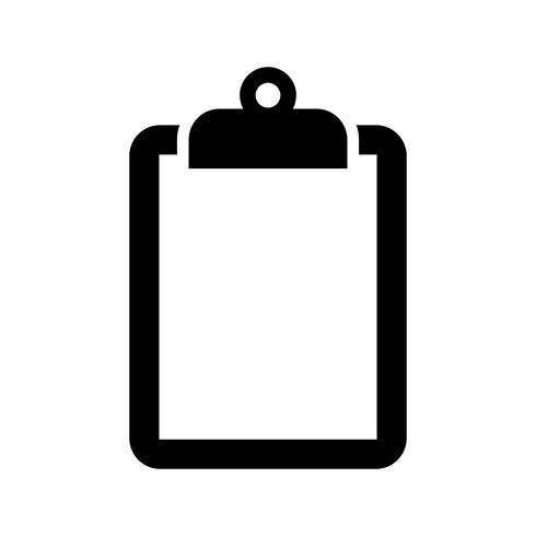 Ícone de vetor de área de transferência