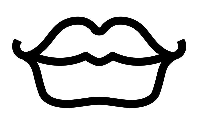 Sexy lippen Vector Icon