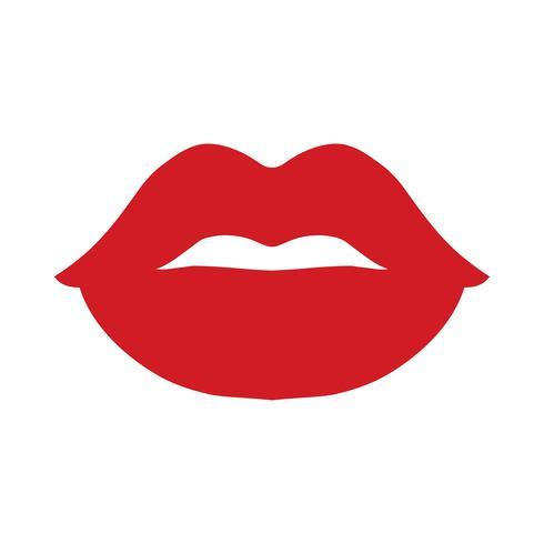 Ícone de vetor de lábios sensuais