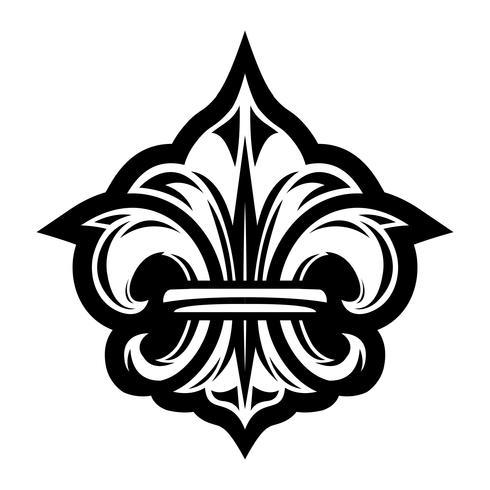 Símbolo de la flor de lis vector
