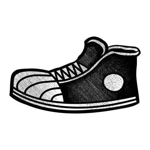 Icono de dibujos animados de zapatillas