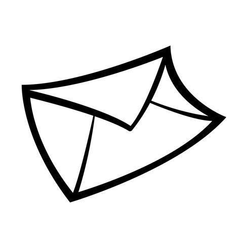 Ilustración de vector de icono de sobre