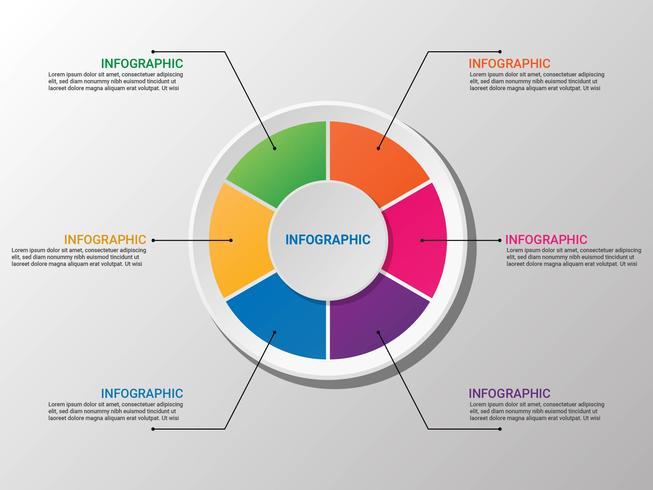 Diagramma di Infographic del diagramma a torta 3D