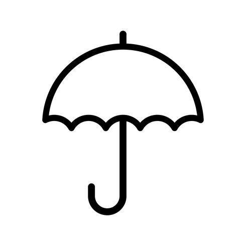 Ícone do vetor guarda-chuva