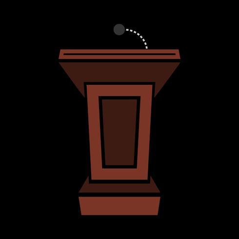 Presentation podium for lectures or public speaking - vector graphic
