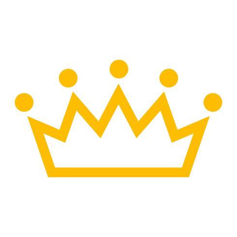 Kunglig krona vektorikonen