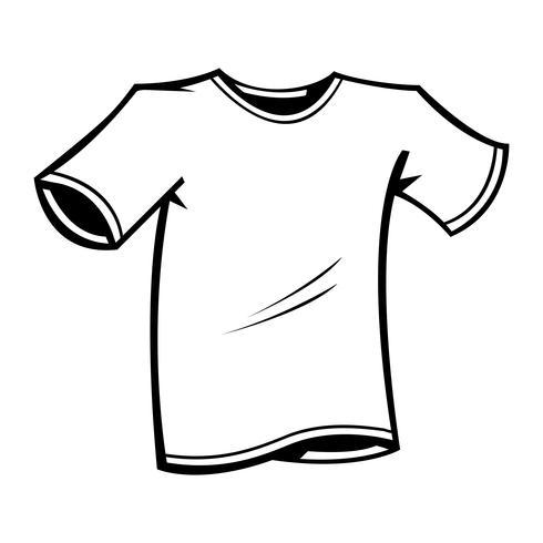 T-shirt sjabloon Vector