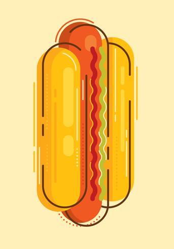 Illustration de hot-dog.