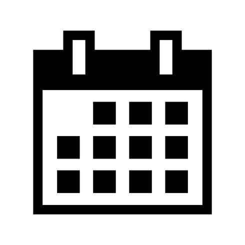 Calendario icono de vector de calendario