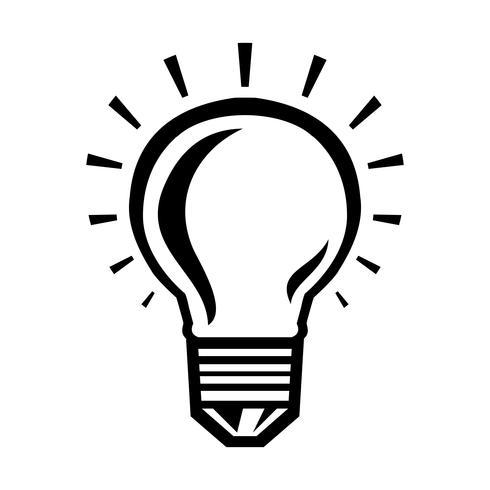 Gloeilamp Vector Icon