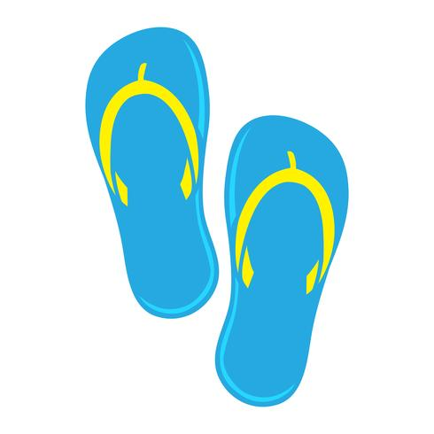 Icono de Vector de zapato Flip Flop