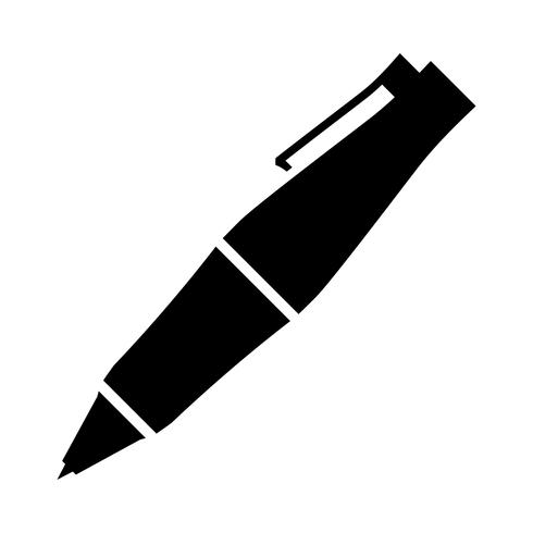 Fancy Ballpoint Pen Vector Icon