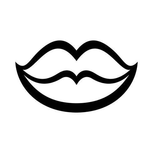 Sexy Lippenvektorikone