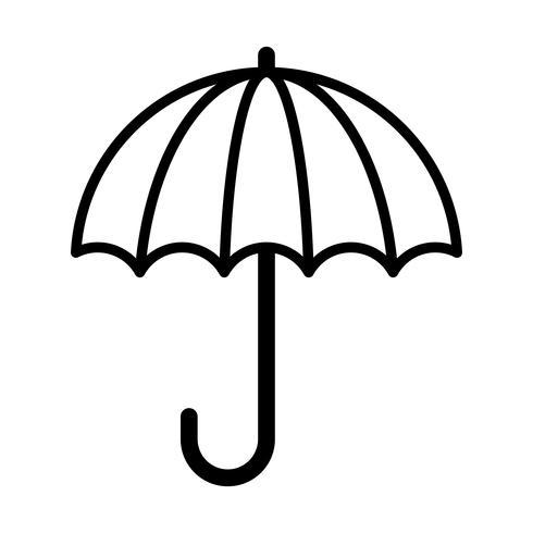 Paraplu vector pictogram