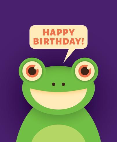 Cartão feliz aniversário vetor