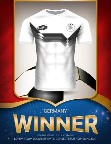 Football cup 2018, Germany winner concept.