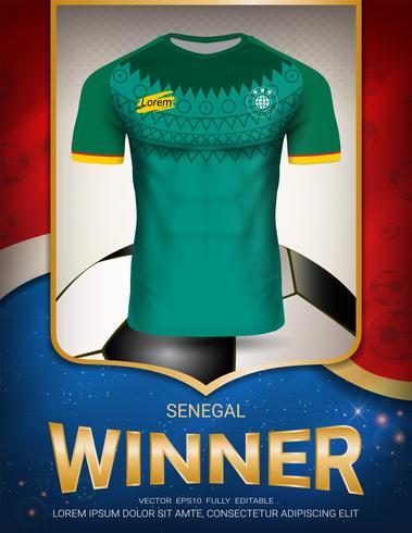 Football cup 2018, Senegal winner concept. vector