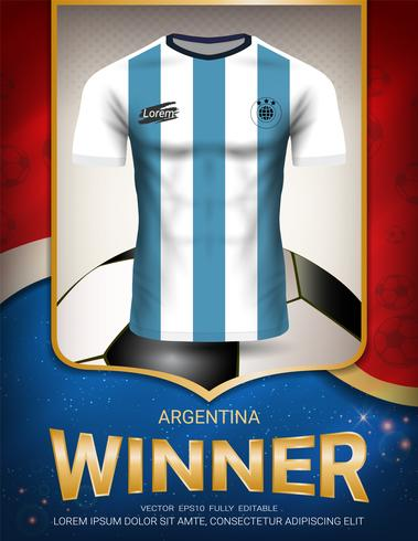 Football cup 2018, Argentina winner concept.
