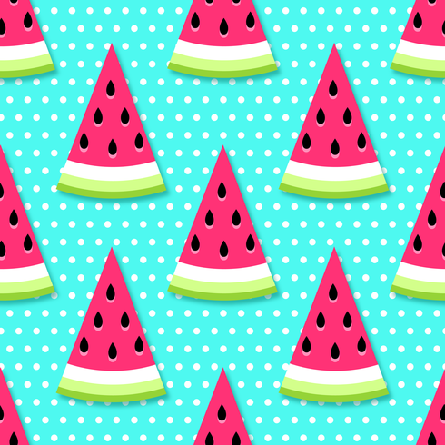 Seamless Watermelon Slices Background