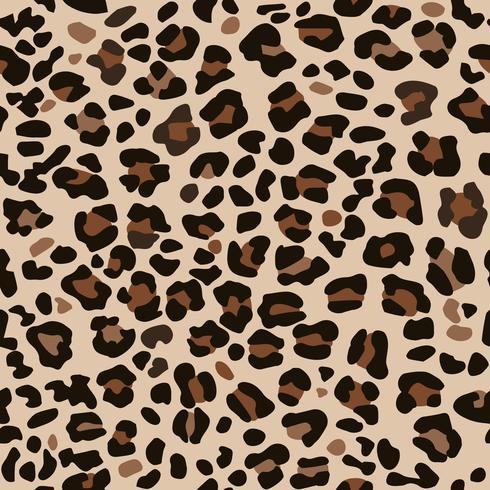 Estampado leopardo marrón. vector