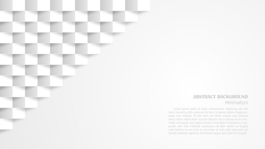 Abstrakte weiße geometrische Papierkunstart des Hintergrundes 3d.