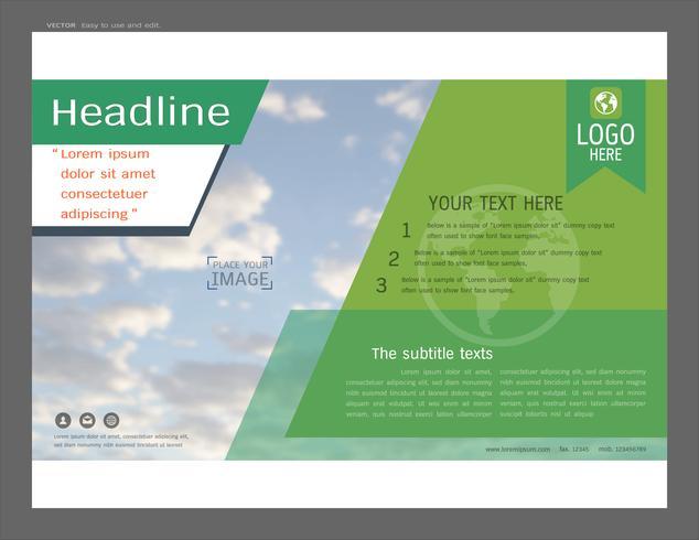 Presentation layout design för affärsmall, Inspiration för din design alla media. vektor